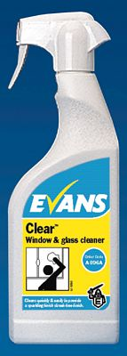 Evans Clear Window Glass & S/S Cleaner Cleaning Chemicals - image © SLS Catering & Hygiene
