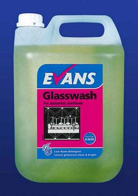 Evans Auto Glasswash Liquid Cleaning Chemicals - image © SLS Catering & Hygiene