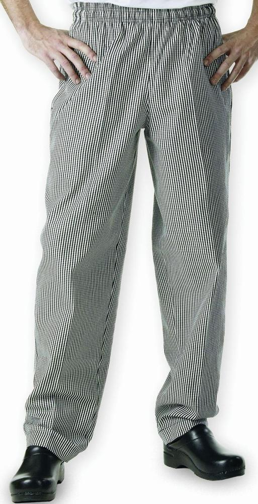 Easyfit Pants SMall Black Check Chef Shop - image © SLS Catering & Hygiene